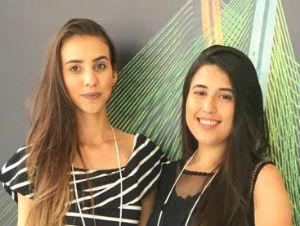 Flaiene Moraes e Júlia Diaz